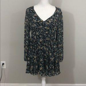 Kimchi Blue Silk Print Dress